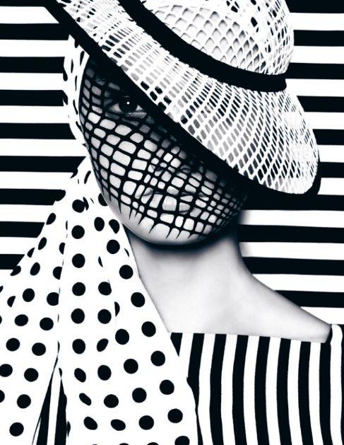 Black & White. You Can't See Me from DANSK AW12 Photographer: Bo Egestrøm / Creative Director: Uffe Buchard / Fashion Editor: Sandie Elisabeth / Hair & Makeup: Zenia Jæger / Model: Thea Melin