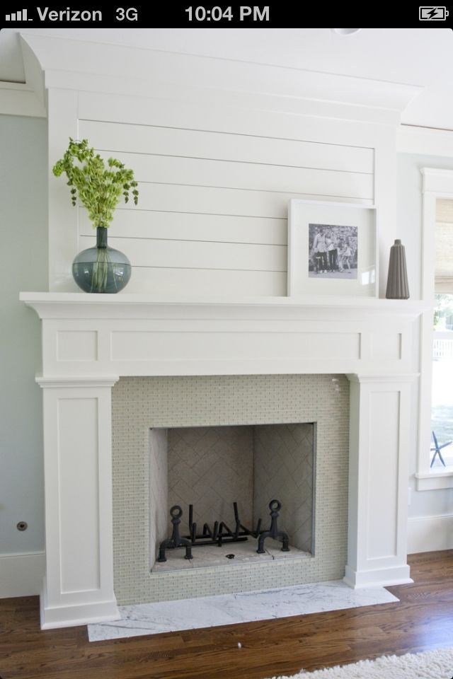 Inspiration White Wood Framed Fireplace For The Home