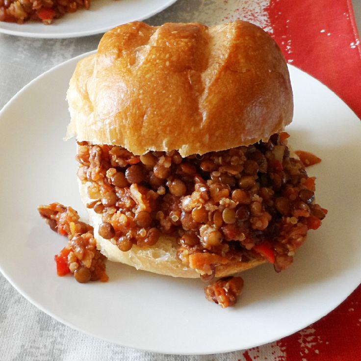 Lentil Quinoa Sloppy Joes #vegetarian