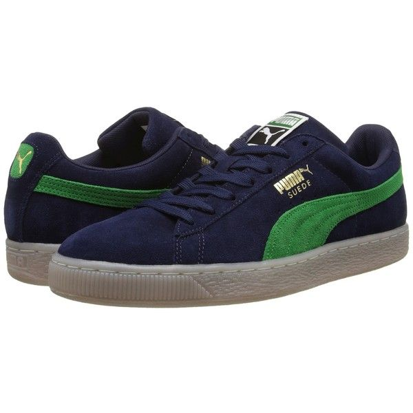 PUMA Suede Classic Coastal Athletic Shoes (£42) ❤ liked on Polyvore