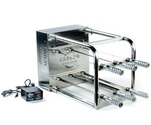 The Carson Rodizio Kit is a rotisserie kit that converts your grill into a Brazilian-style steakhouse and increases your current grill's cooking capacity.