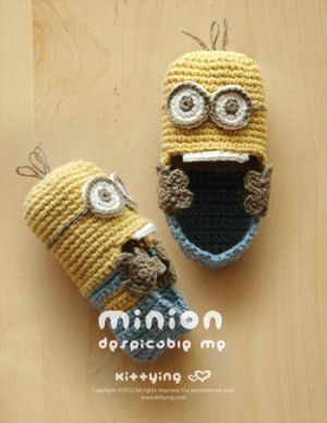 Minion Baby Booties Crochet Pattern
