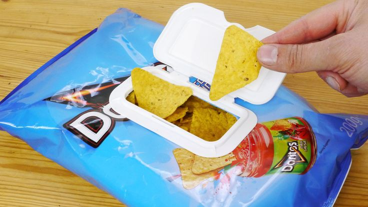 how to close open chip bag fold