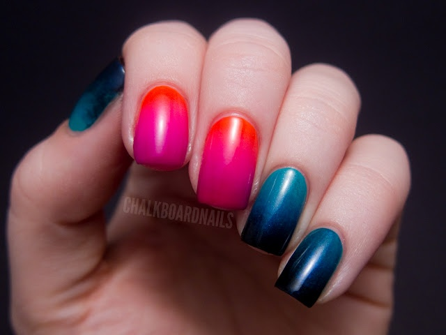 Chalkboard Nails: Urban Decay Showboat Nail Kit - Gradient Crazy