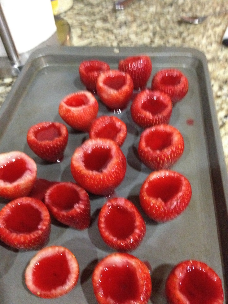 Strawberry margarita jello shots! 2013 made for jimmy buffet tailgating!