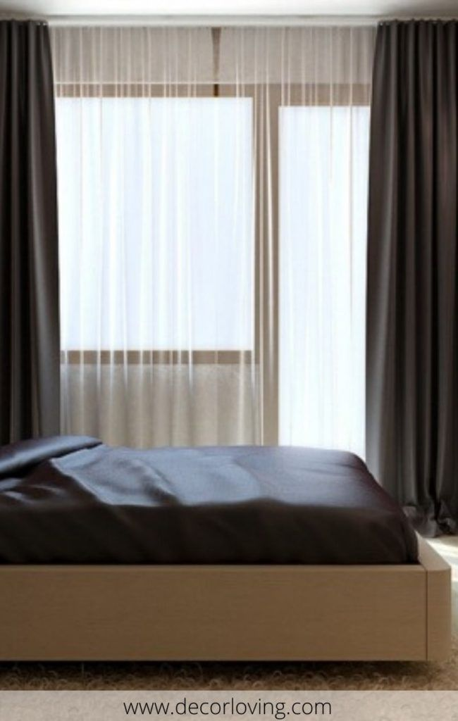 Pin On Bedroom Decor Bedroom images with curtains