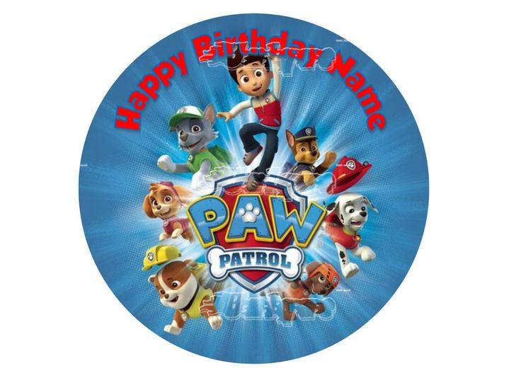 Paw Patrol Edible Image Cake Topper Wafer Paper #7 in Home & Garden, Parties, Occasions, Cake | eBay!