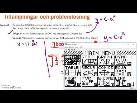 Matematik 5000 Ma 2a Kapitel 2 Exponential-och potensekvationer Tillämpn...