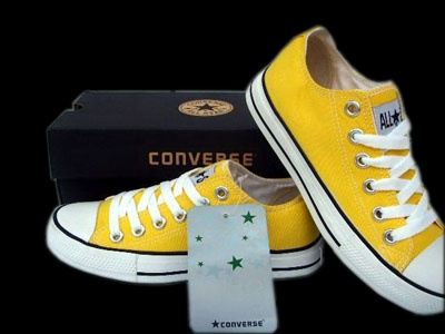converse yellow shoes