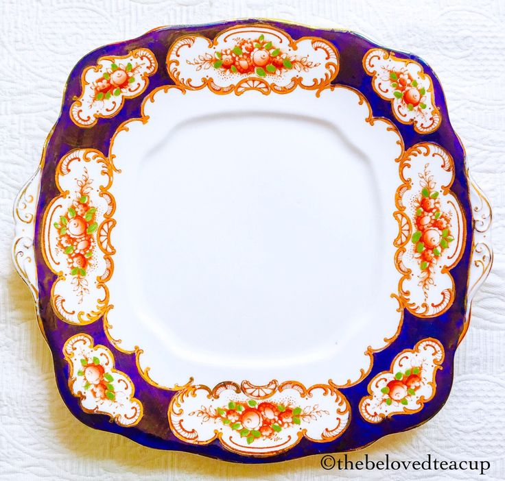Royal Albert Crown China Heirloom 1920's Cake Plate by TheBelovedTeacup on Etsy https://www.etsy.com/ca/listing/232572988/royal-albert-crown-china-heirloom-1920s