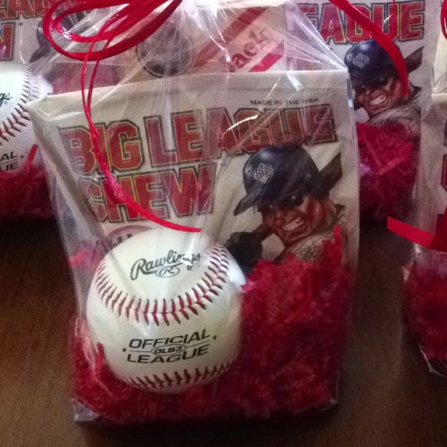 goody bags for a baseball birthday party