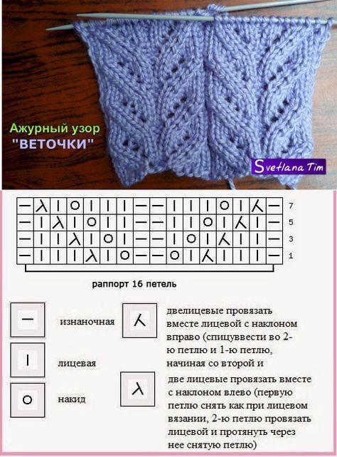 вязание-узоры   Простые схемы.