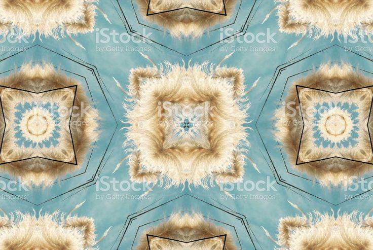 New Zealand Native ToeToe or ToiToi Inspired Mandala royalty-free stock photo