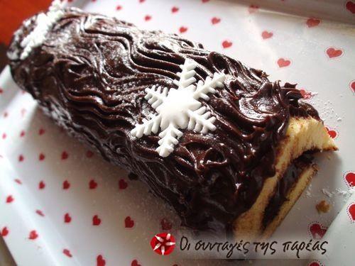 Ελβετικός κορμός σοκολάτας #sintagespareas