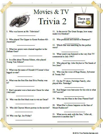 photograph about Printable Trivia Questions and Answers referred to as Trivia Concerns