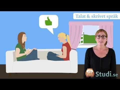 Skillnaden mellan talsprak och skriftsprak (Svenska) - Mellanstadiet - YouTube