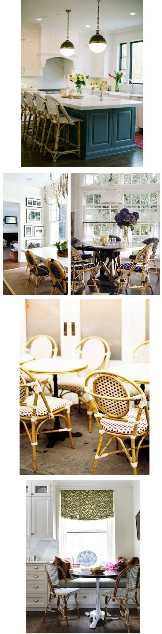 French Bistro Chairs via www.ariannabelle.com/blog