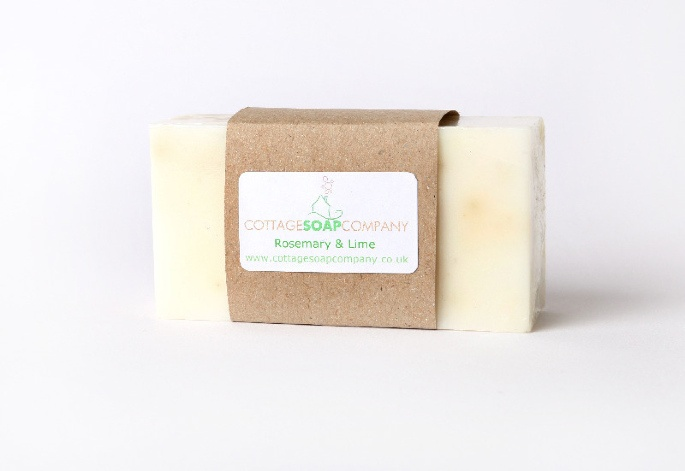Handmade soap rosemary and lime