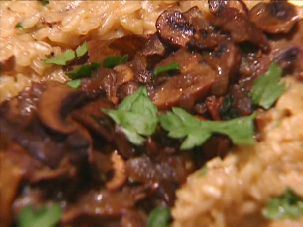 Get Mushroom Risotto Recipe from Food Network