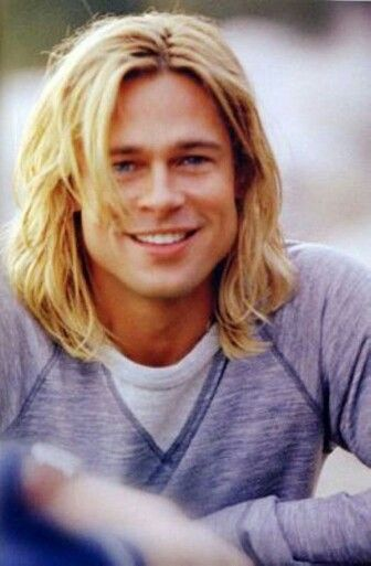 Brad Pitt this must be his day off from Troy look