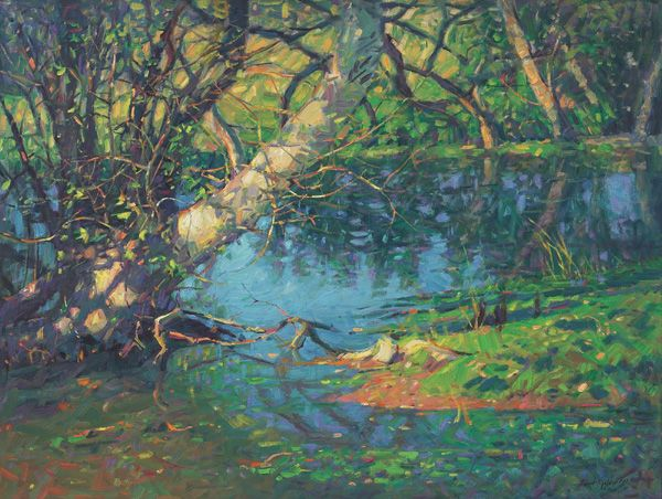 Robert Goldman - Sycamore by the Streamside