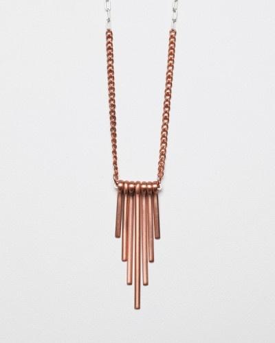 Copper Obelisk Necklace  Garnett Jewelry