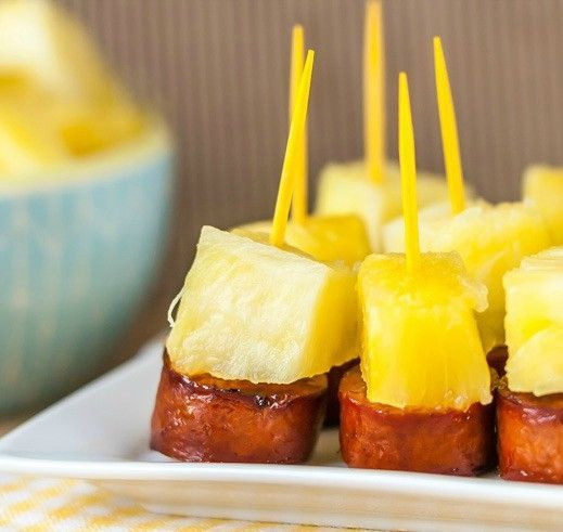 These fun little Sausage and Pineapple Appetizer Bites are easy to make in a hurry and would make a great appetizer for your next party!