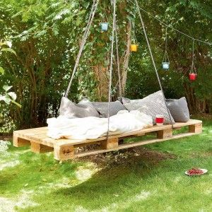 selbst gebaute schaukel garten pinterest upcycling. Black Bedroom Furniture Sets. Home Design Ideas
