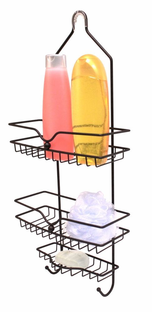 Home Basics NEW 2 Tiered Classic Rustic Shower Caddy hooks, soap dish - SC30277 #showercaddy $14.49 this week only.