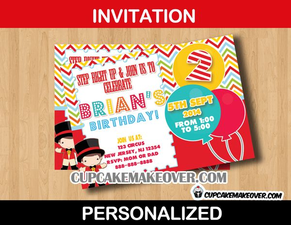 15 best Big Top Carnival Party images on Pinterest Carnival - circus party invitation