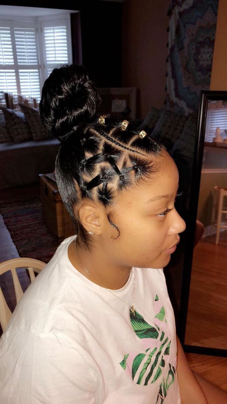 Pin By Alesha K On Kid S Style Girls Hairstyles Braids Natural Hair Styles Easy Natural Hair Styles
