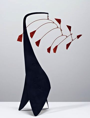 Alexander Calder in 1941, at the Pace Gallery