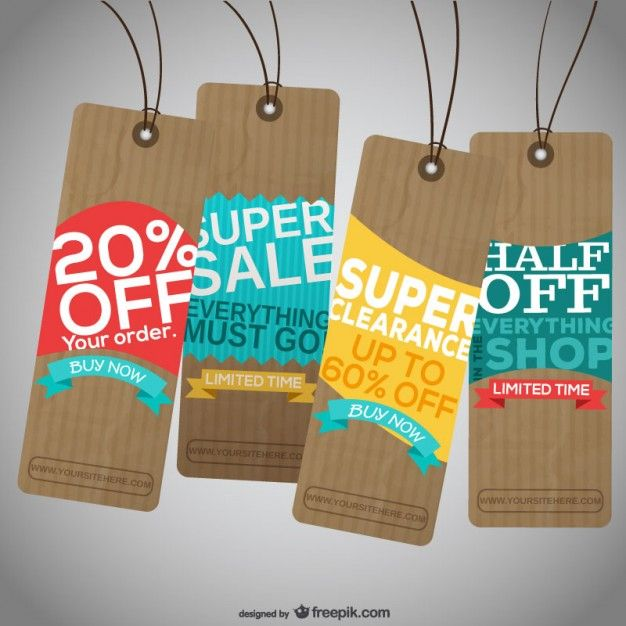 Christmas Offer Tags Free Vector