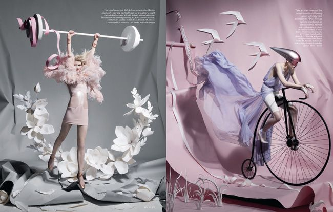 Paper Plates by Tim Gutt and Shona Heath British Vogue Olympics horse jump diving