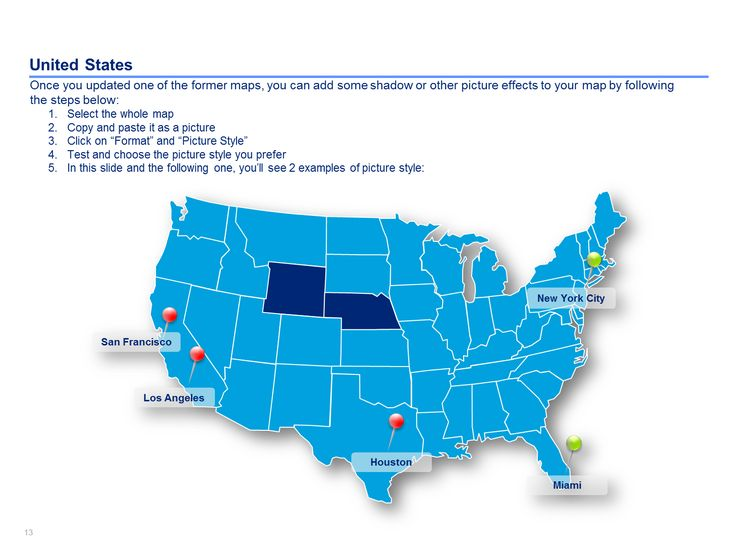 15 best Editable US Maps in Powerpoint Slidebooks images on - editable united states maps
