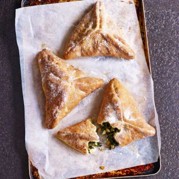 Based on a Lebanese speciality called fatayer, these parcels use soft bread dough to enclose the filling. Taken from Paul Hollywood's Pies & Puds