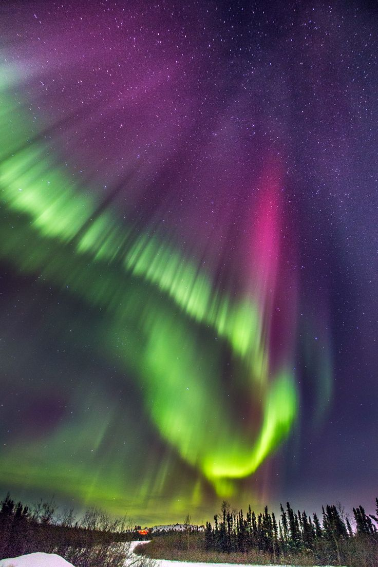 Hunting the Northern Lights in Fairbanks, Alaska.