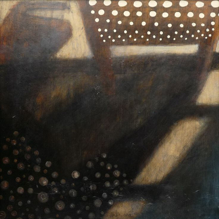 Ilona Istvanffy Dotted Iron 2010 mixed media on board 50x50 cm