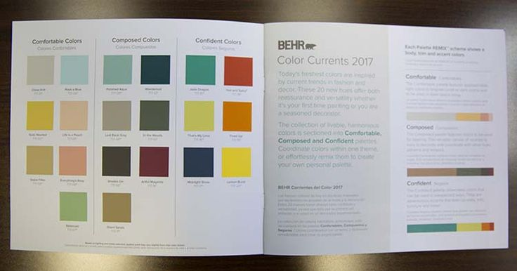 Using 2017 color currents to update your room colors and Behr color of the year 2017