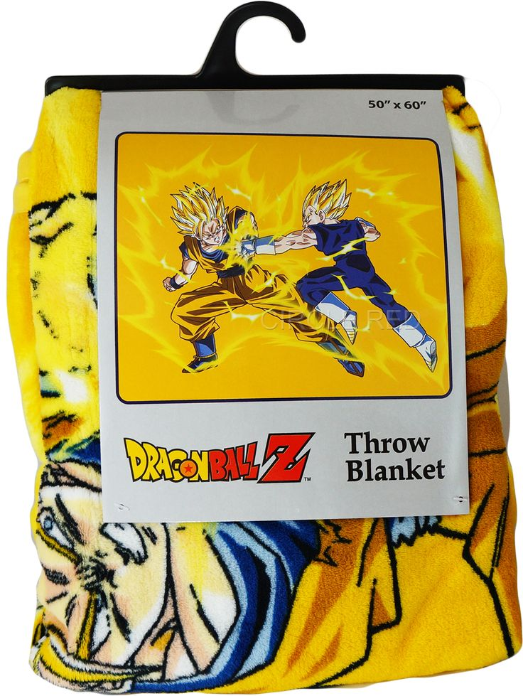 This super cool Dragon Ball Z anime throw blanket features the epic Super Saiyan clash between Goku and Vegeta. Size: 50 x 60 Inches. Very Soft and warm. 100% polyester.