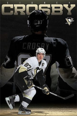 Sidney Crosby Pittsburgh Penguins NHL Sports Poster [ ProTuffDecals.com ] #posters #decal #sports