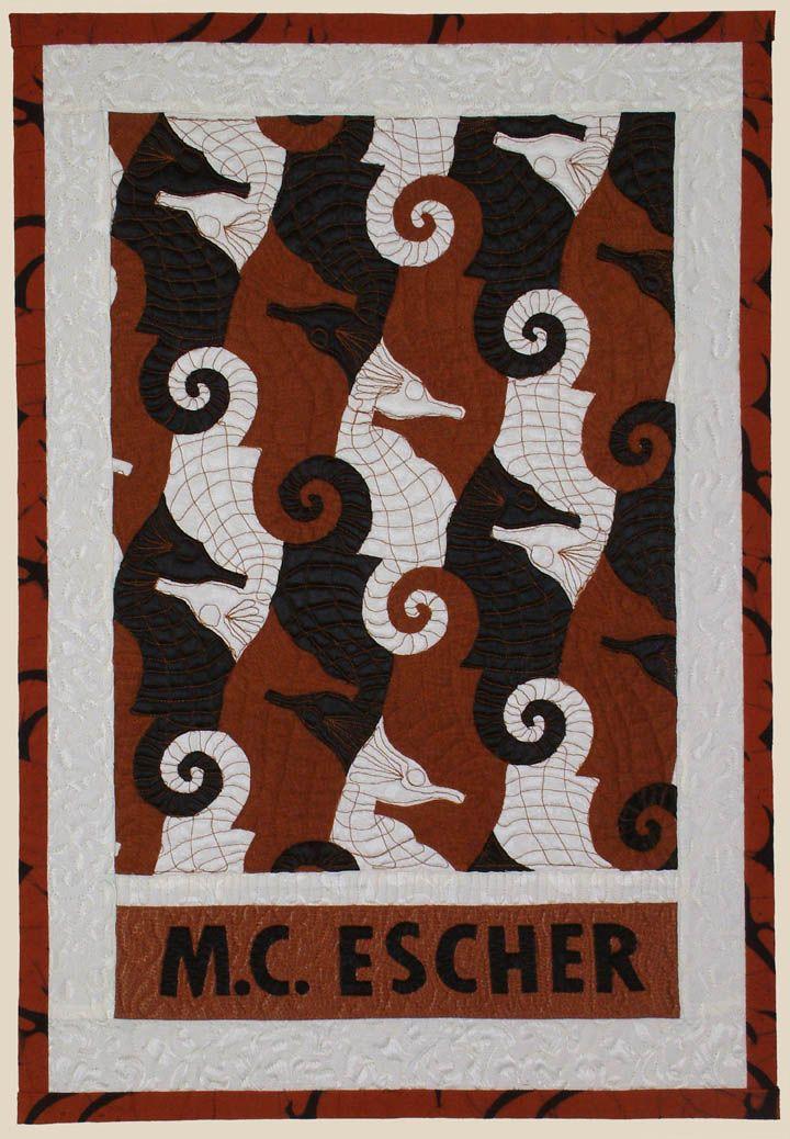 """""""Escher's Seahorses"""" by Jean Baardsen at Uncommon Cloth"""