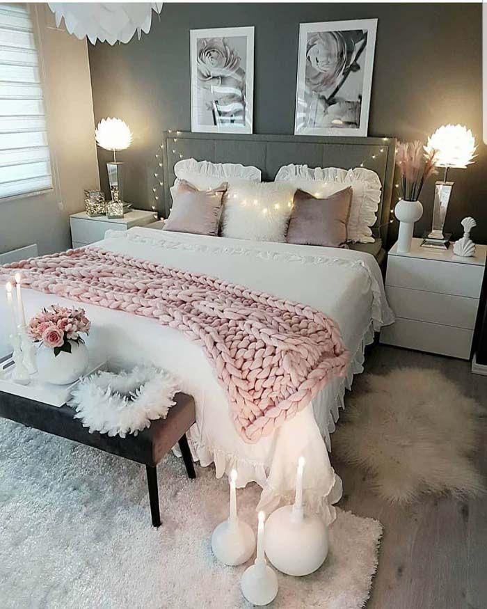 42++ Feminine romantic bedroom decor trends