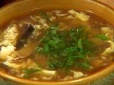 Hot and sour soup. Makes a lot, but it's delish.