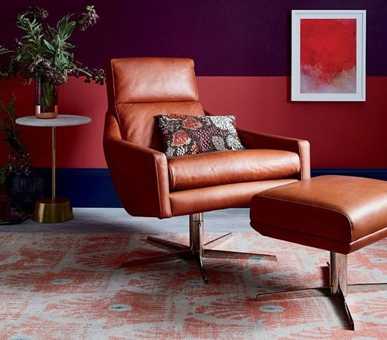 1960s Style Austin Swivel Armchair At West Elm ArmchairUpholstered ChairsLiving Room