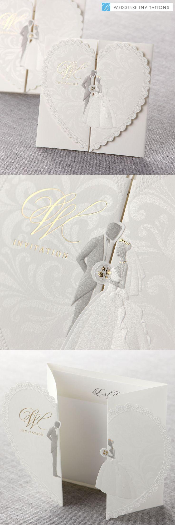 Embossed Wedding Couple by B Wedding Invitations  #weddinginvitations  #wedding  #invitations