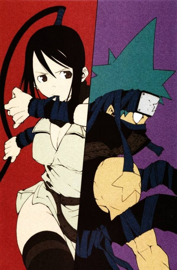 Tsubaki and Black*Star From Soul Eater