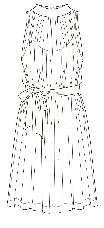 Dress // technical flat
