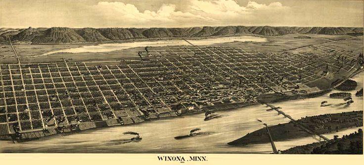 Winona 1889 panoramic map