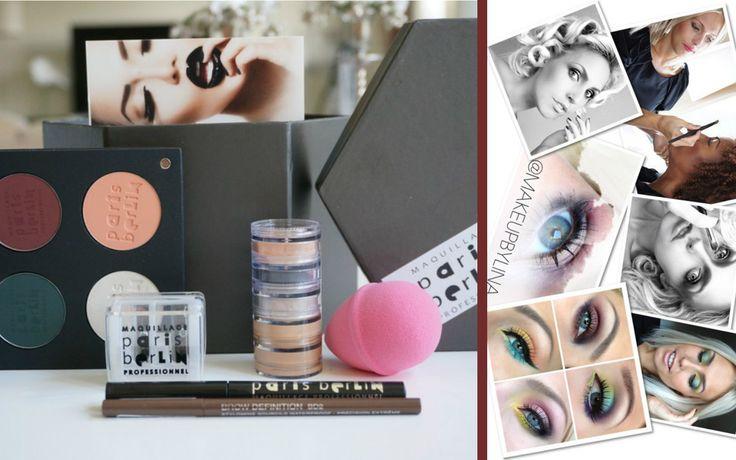 """Lina Ekhs recension om Paris Berlin Pro Makeup: """"Produkterna är så pigmentrika, sitter otroligt bra och jag är tok kär i deras svarta Eyeliner! Jag har även en secret crush på deras paletter då de inte väger så mycket, är tunna och innehåller varierat mycket plats! Produkterna passar verkligen både för en """"hobbysminkare"""" och en makeupartist! Så kul!!"""""""